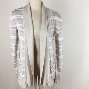 White house black market cardigan sweater striped